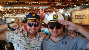 The Beckman Brothers, Collin and Carson showing off their nautical spirit. Pub Crawl 2016